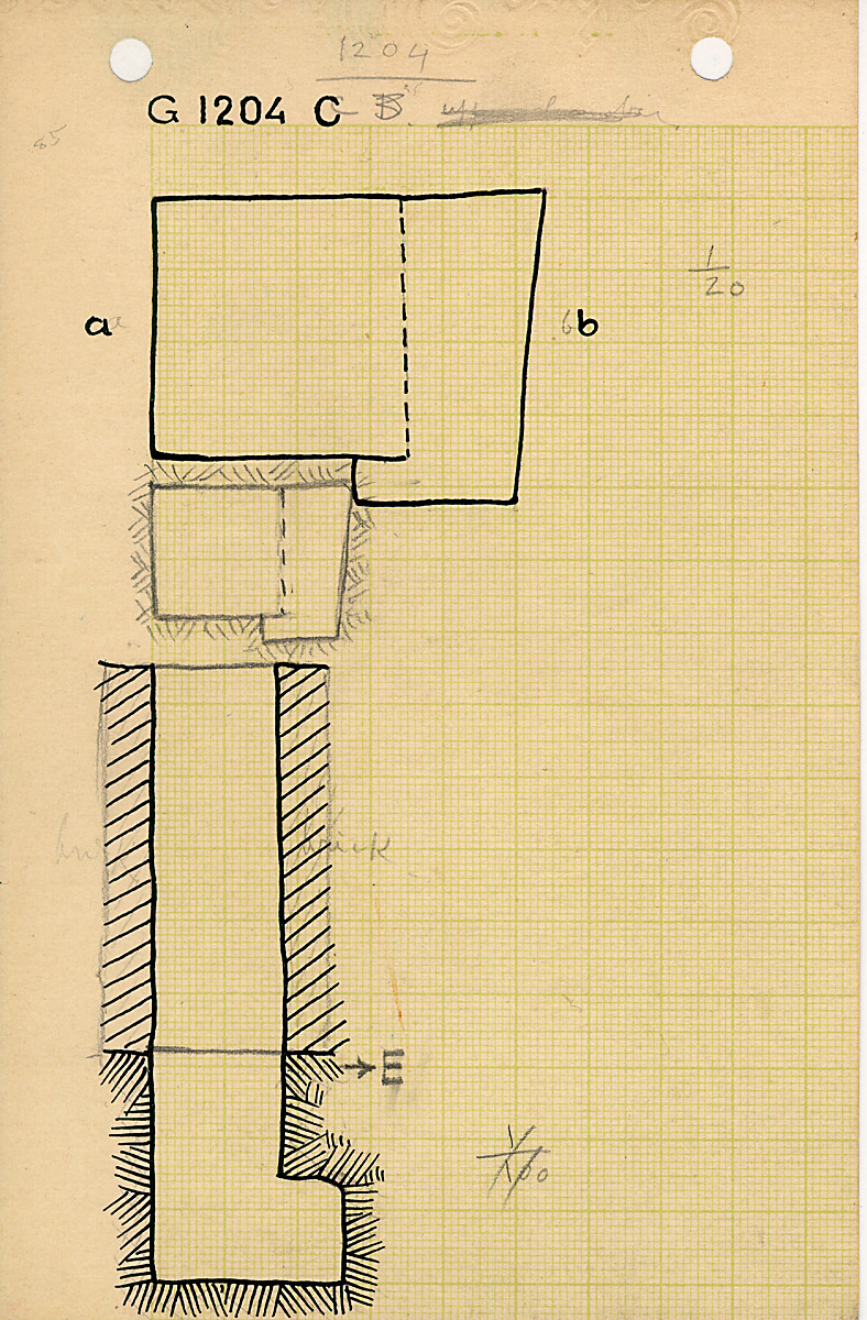 Maps and plans: G 1204, Shaft C
