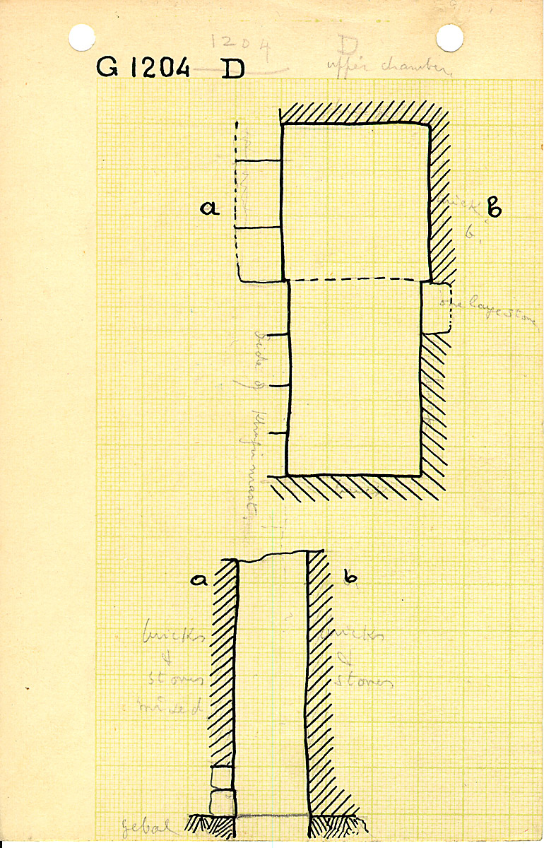 Maps and plans: G 1204, Shaft D (I)