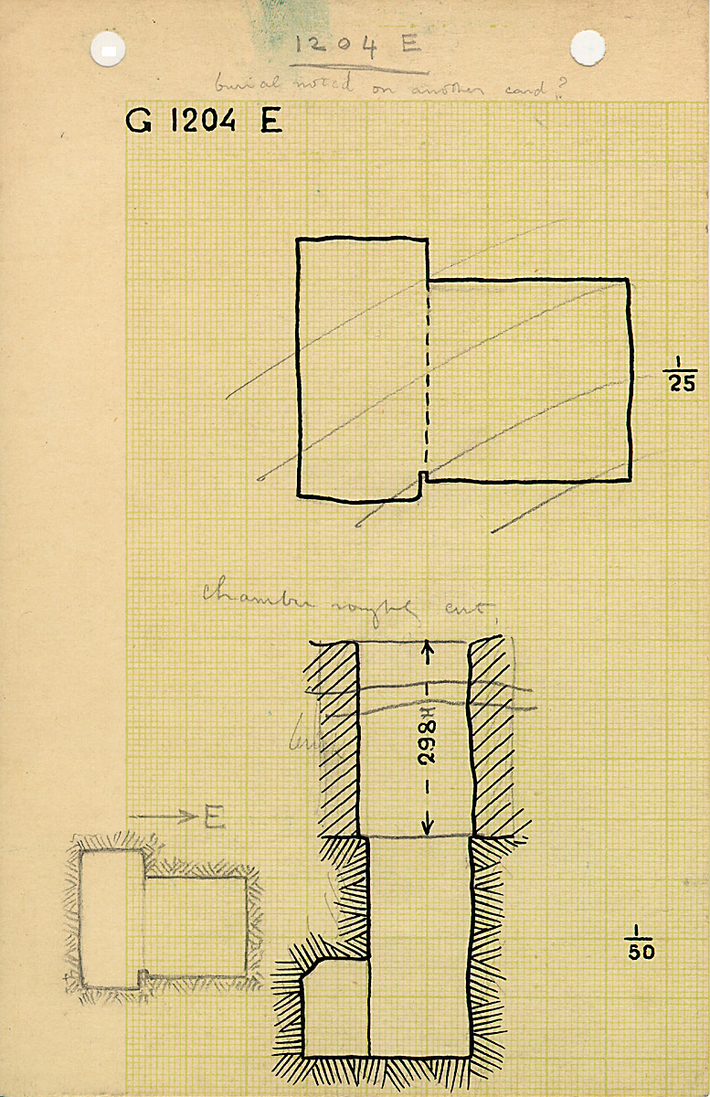 Maps and plans: G 1204, Shaft E