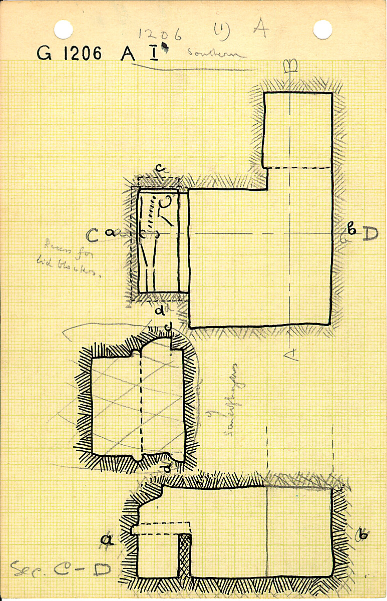 Maps and plans: G 1206, Shaft A