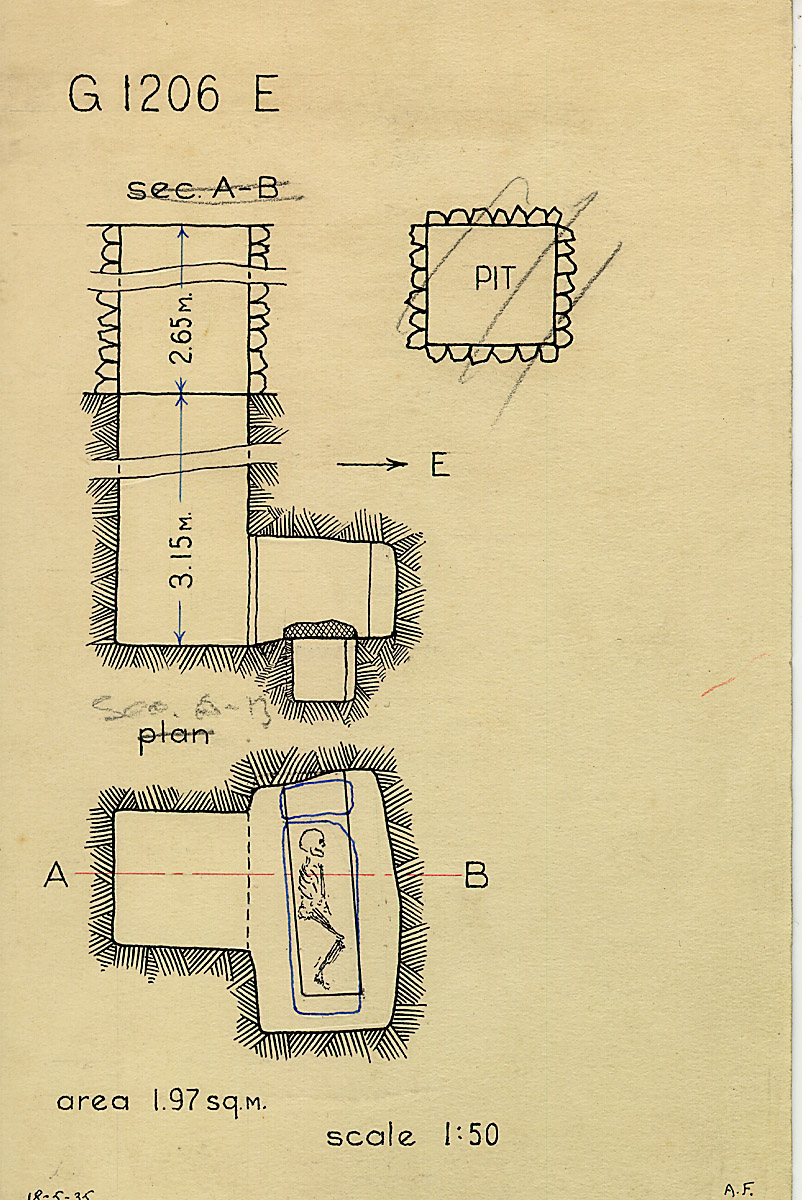 Maps and plans: G 1206, Shaft E
