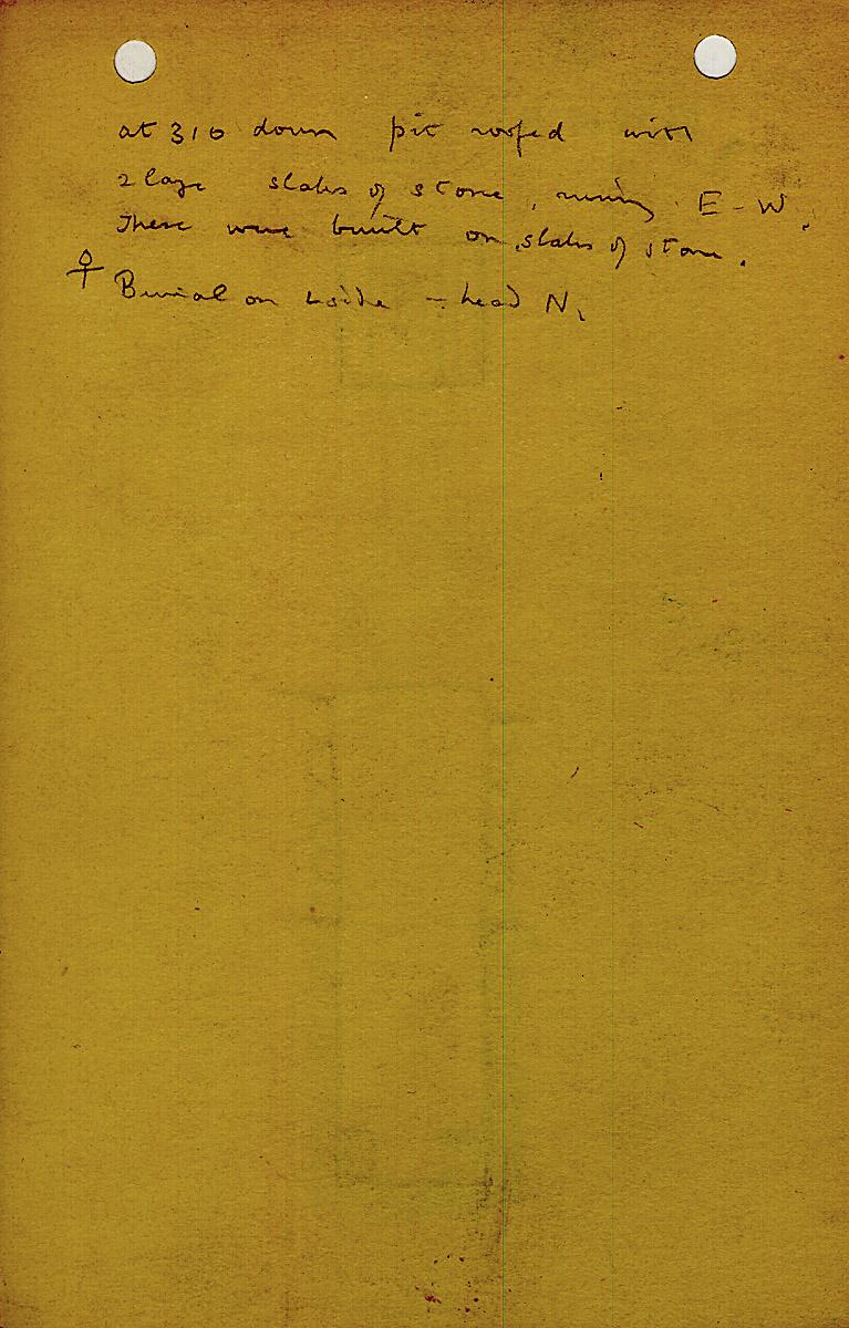Notes: G 1214, Shaft B, notes
