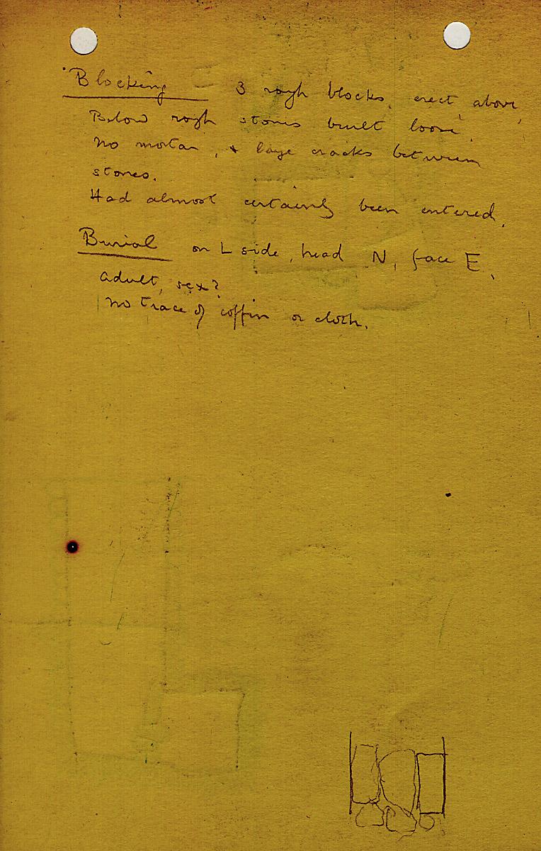 Notes: G 1214, Shaft D, notes