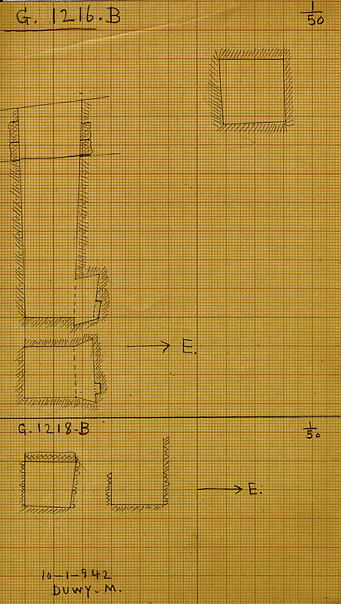 Maps and plans: G 1216, Shaft B & G 1218, Shaft B