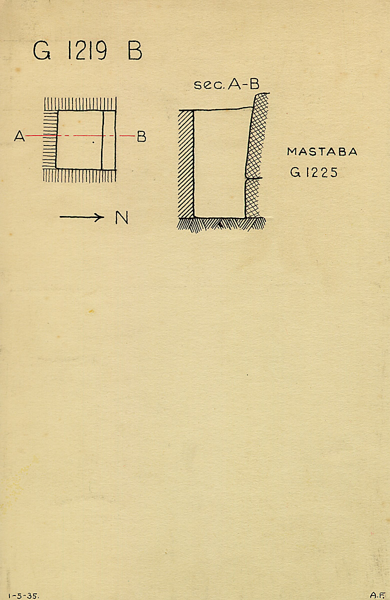 Maps and plans: G 1219, Shaft B