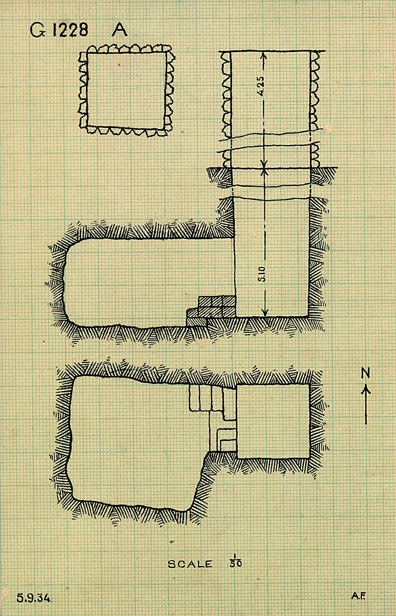 Maps and plans: G 1228 (= G 1227-Annex), Shaft A