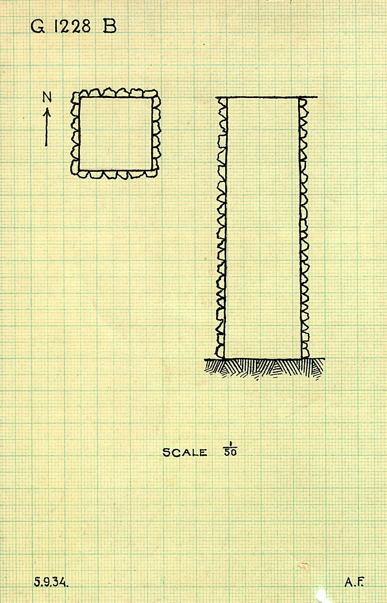 Maps and plans: G 1228 (= G 1227-Annex), Shaft B