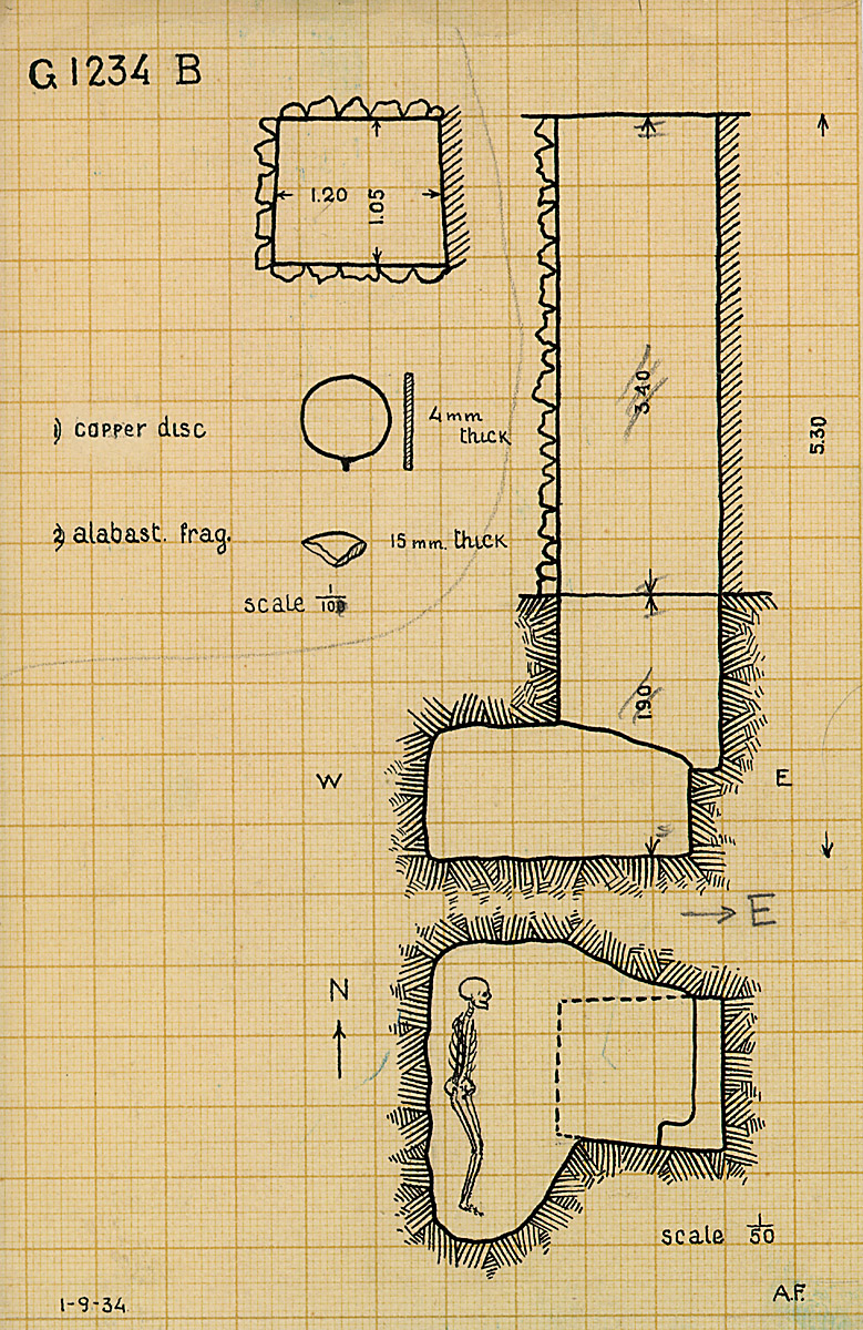 Maps and plans: G 1234, Shaft B