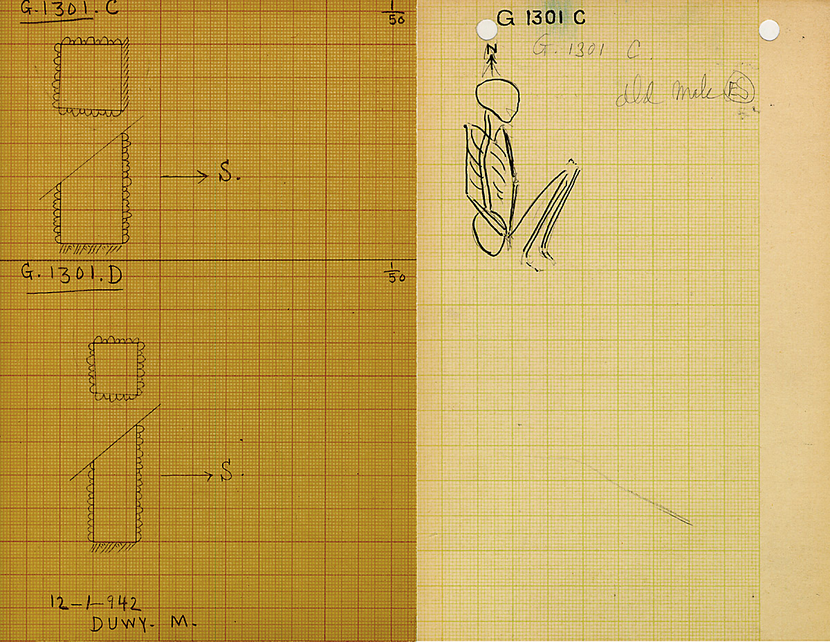 Maps and plans: G 1301, Shaft C