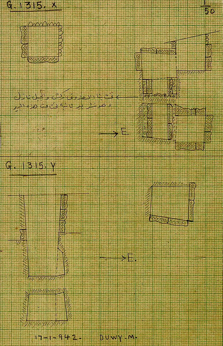 Maps and plans: G 1315, Shaft X (I) and Y