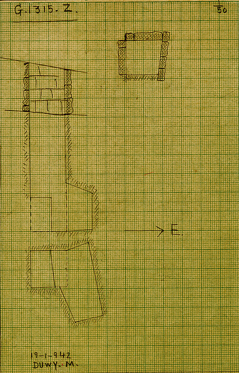 Maps and plans: G 1315, Shaft Z