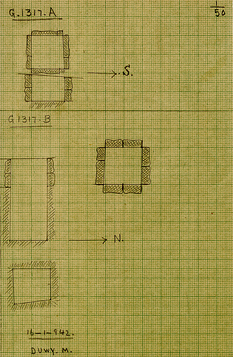 Maps and plans: G 1317, Shaft A and B