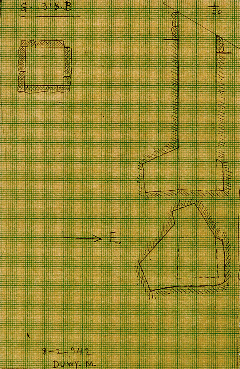 Maps and plans: G 1318, Shaft B