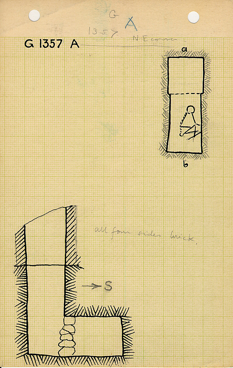 Maps and plans: G 1357, Shaft A