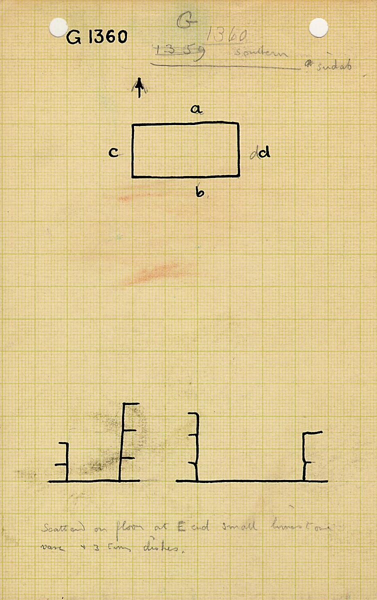 Maps and plans: G 1360, Serdab