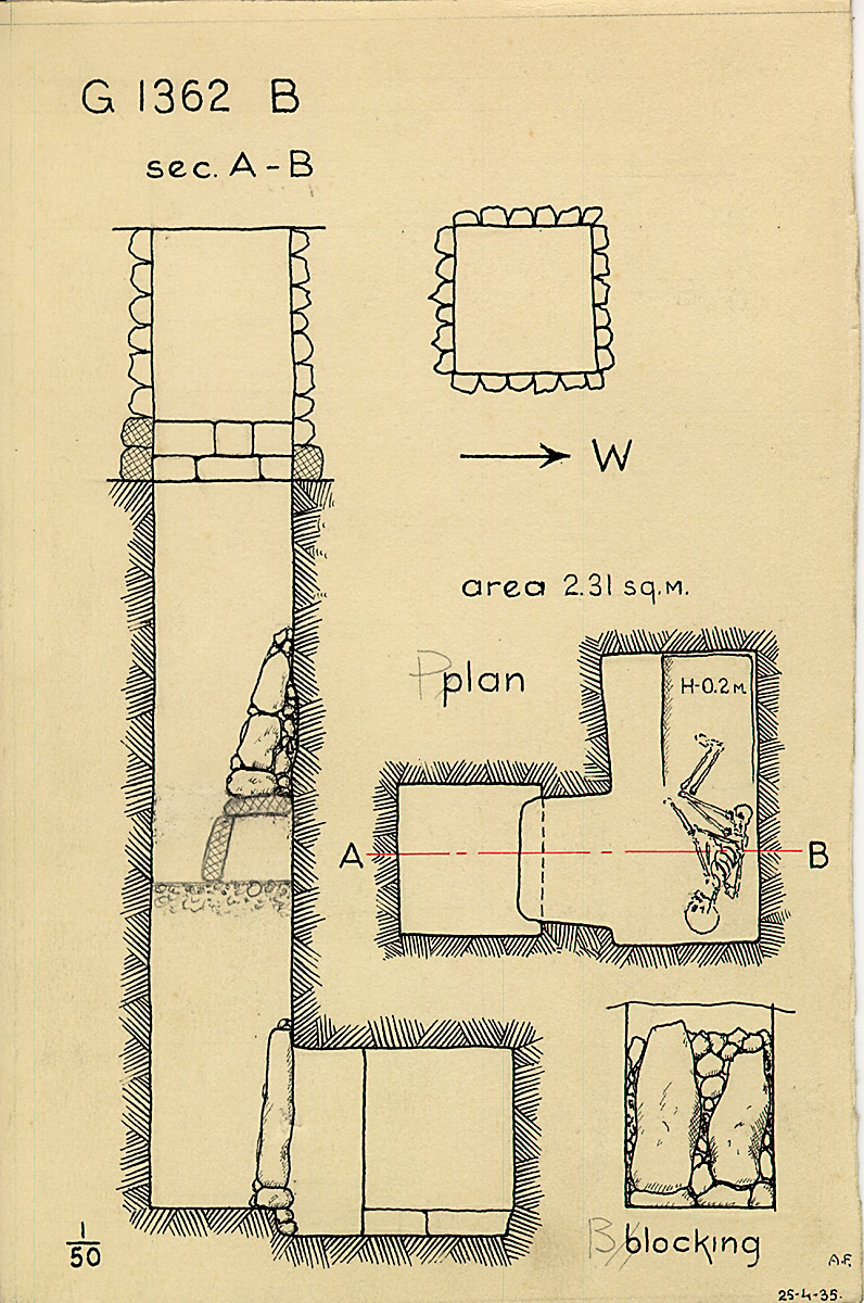 Maps and plans: G 1362, Shaft B (II)