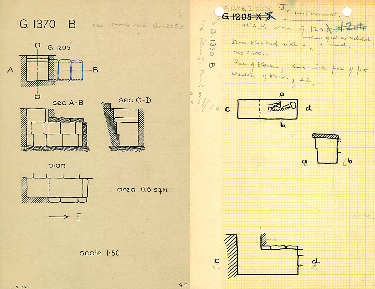 Maps and plans: G 1370, Shaft B