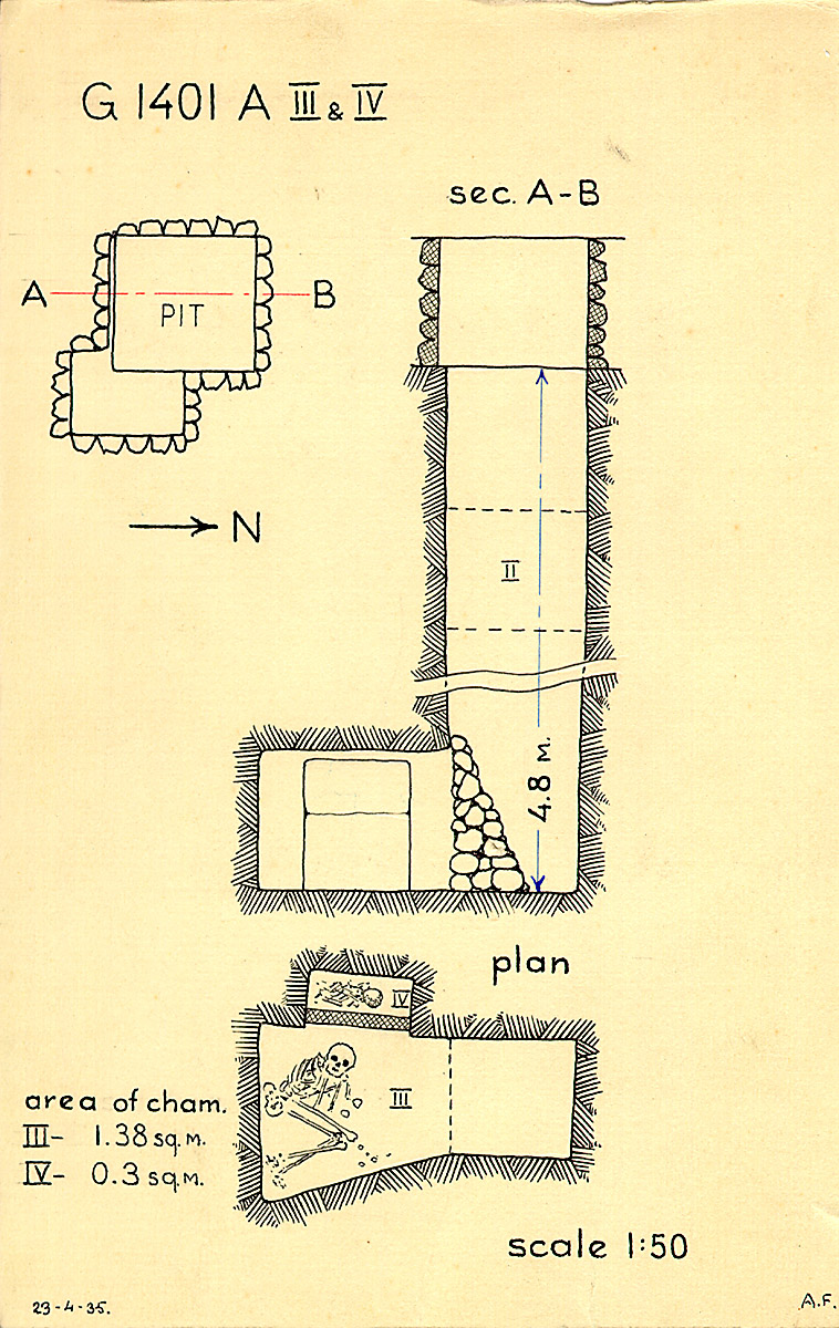 Maps and plans: G 1401, Shaft A (III & IV)