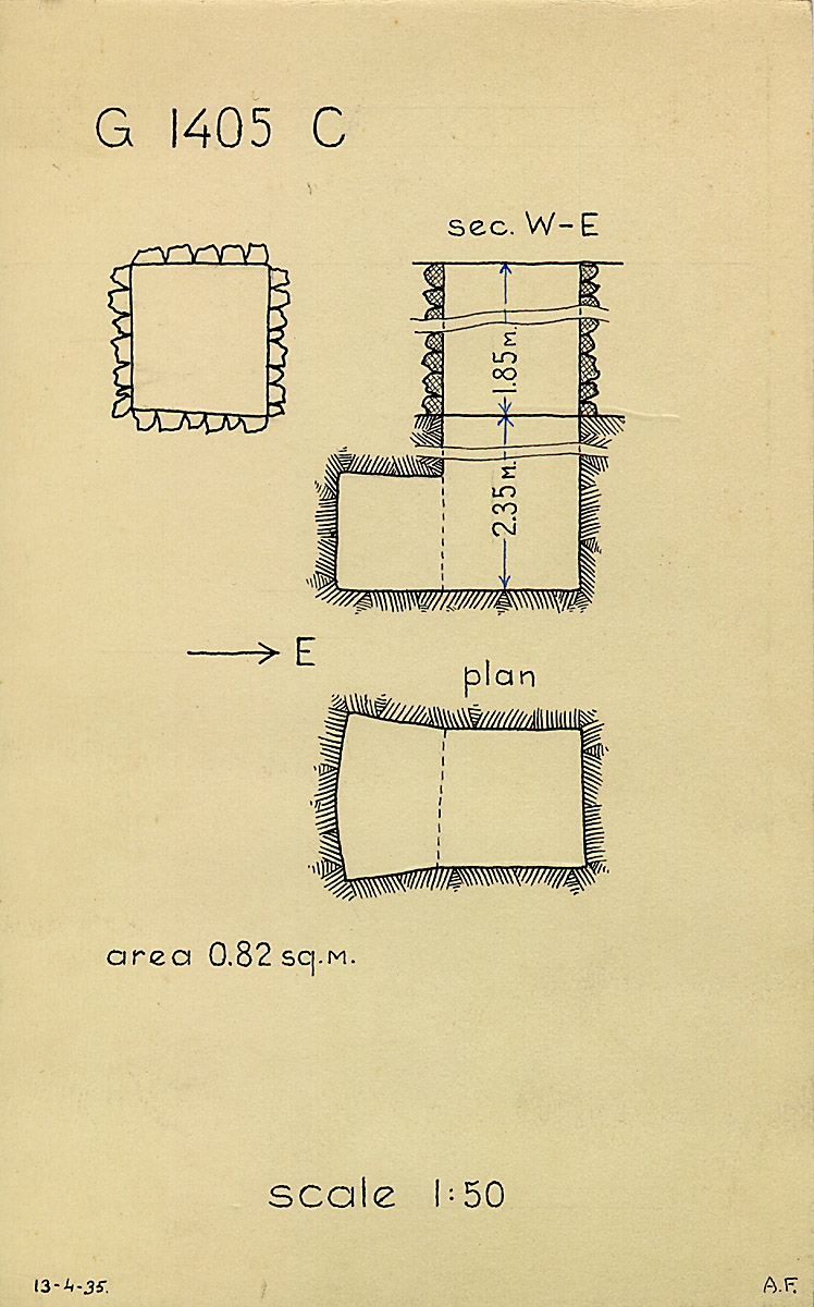 Maps and plans: G 1405, Shaft C