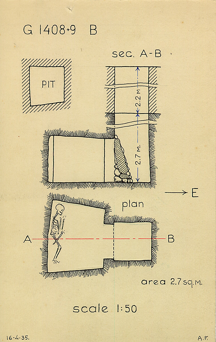 Maps and plans: G 1408+1409, Shaft B
