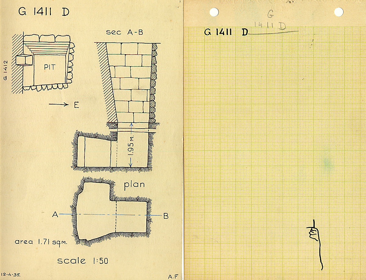 Maps and plans: G 1411, Shaft D