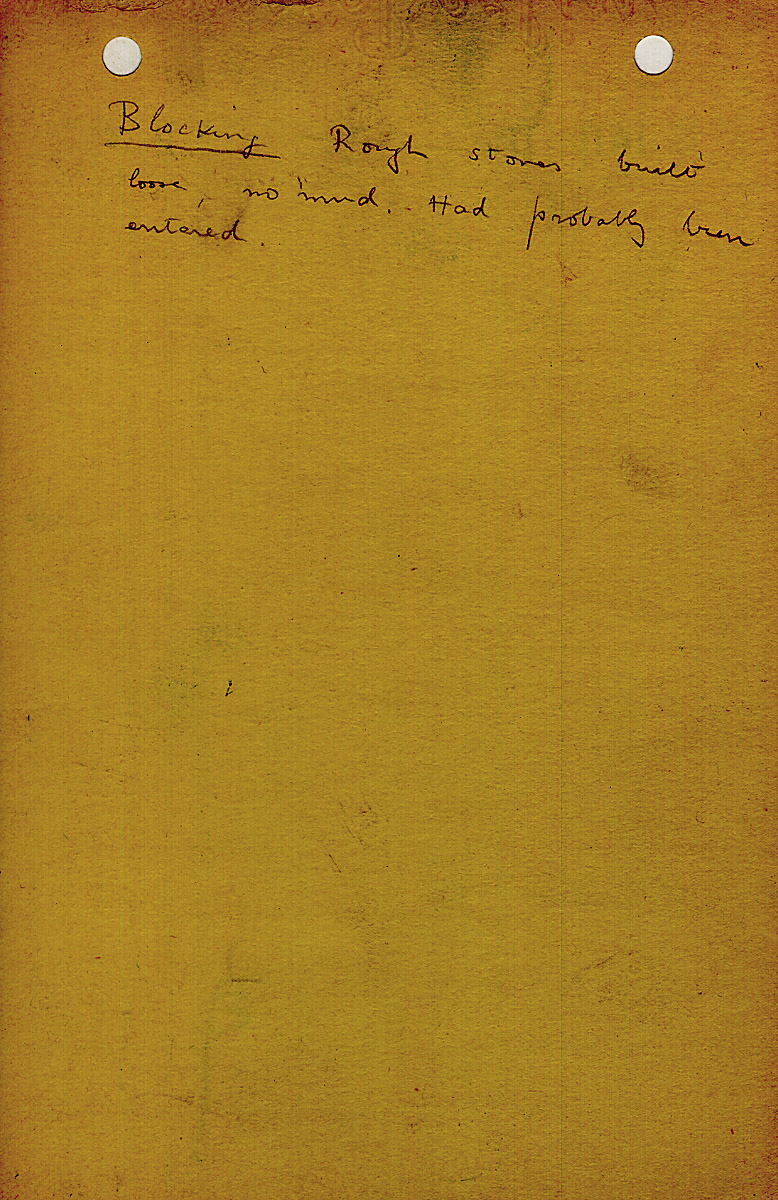 Notes: G 1411, Shaft D, notes