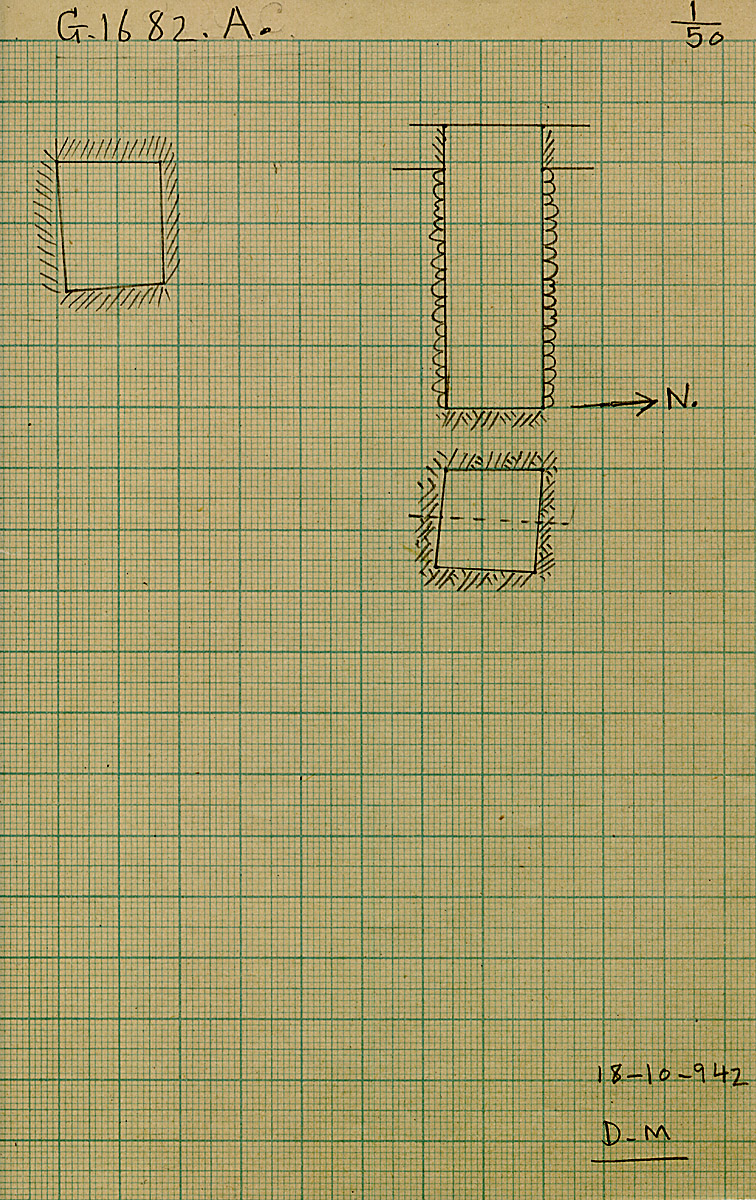 Maps and plans: G 1682, Shaft A