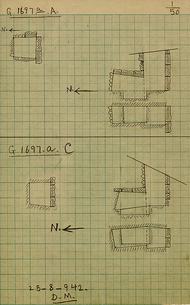 Maps and plans: G 1697a, Shaft A and C