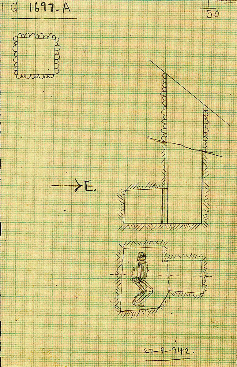 Maps and plans: G 1697, Shaft A