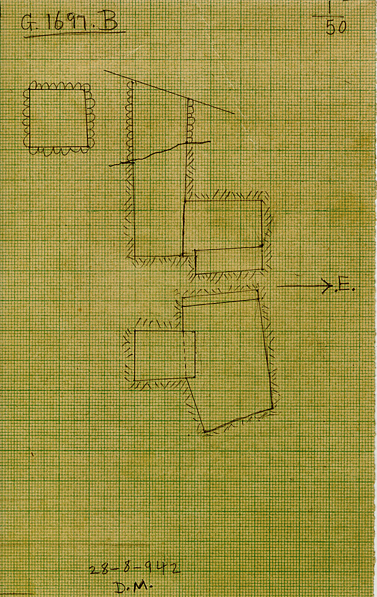 Maps and plans: G 1697, Shaft B