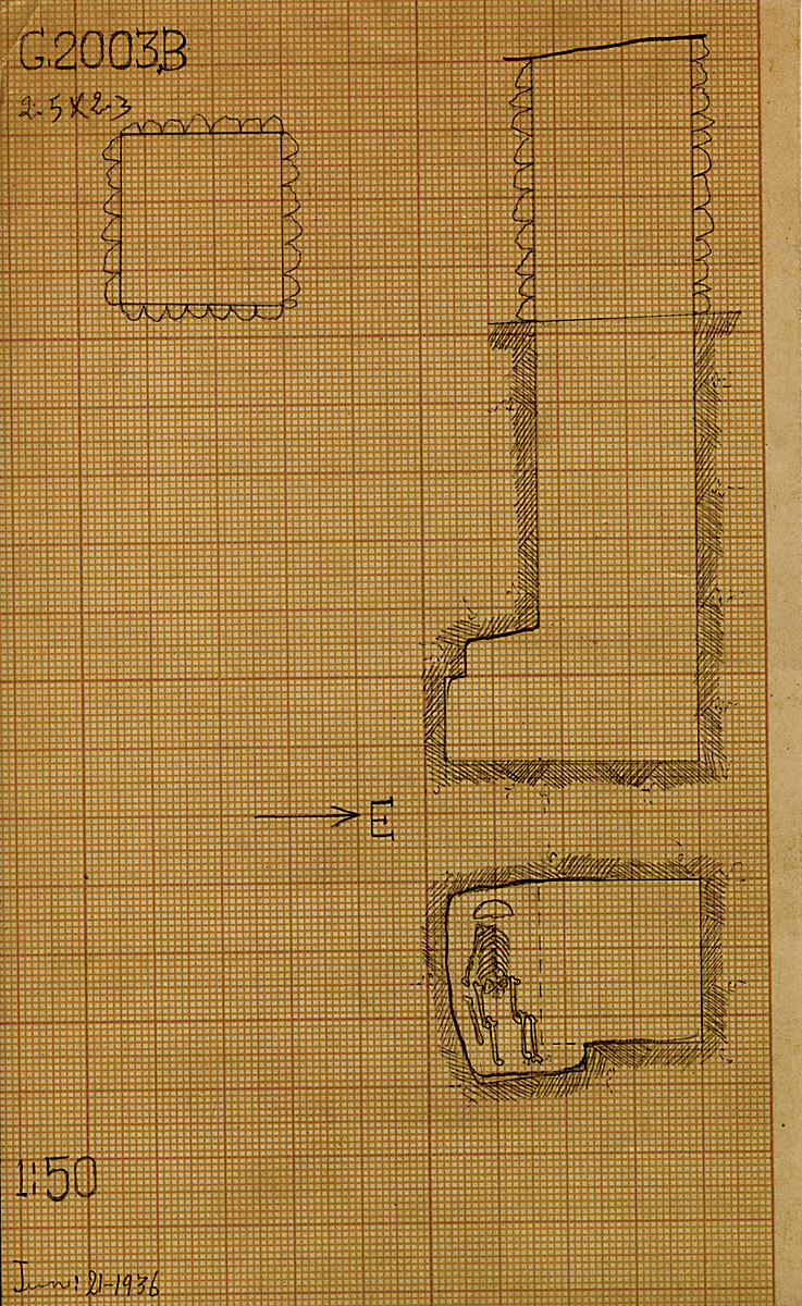 Maps and plans: G 2003, Shaft B