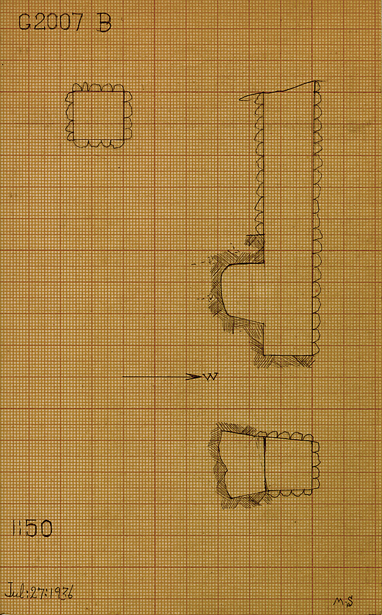 Maps and plans: G 2007, Shaft B