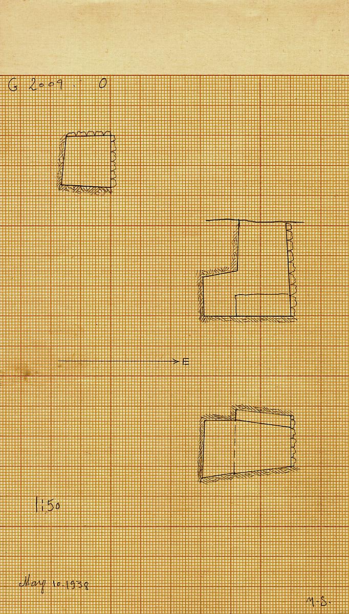 Maps and plans: G 2009 O = G 2013a, Shaft O