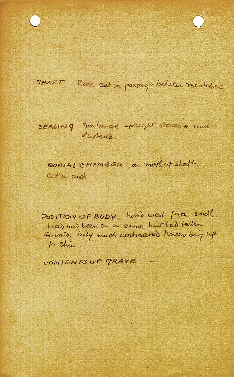 Notes: G 2010, Shaft B, notes