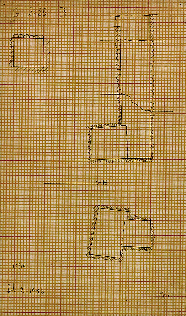 Maps and plans: G 2025, Shaft B