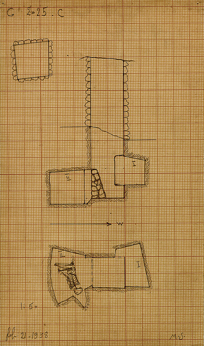 Maps and plans: G 2025, Shaft C
