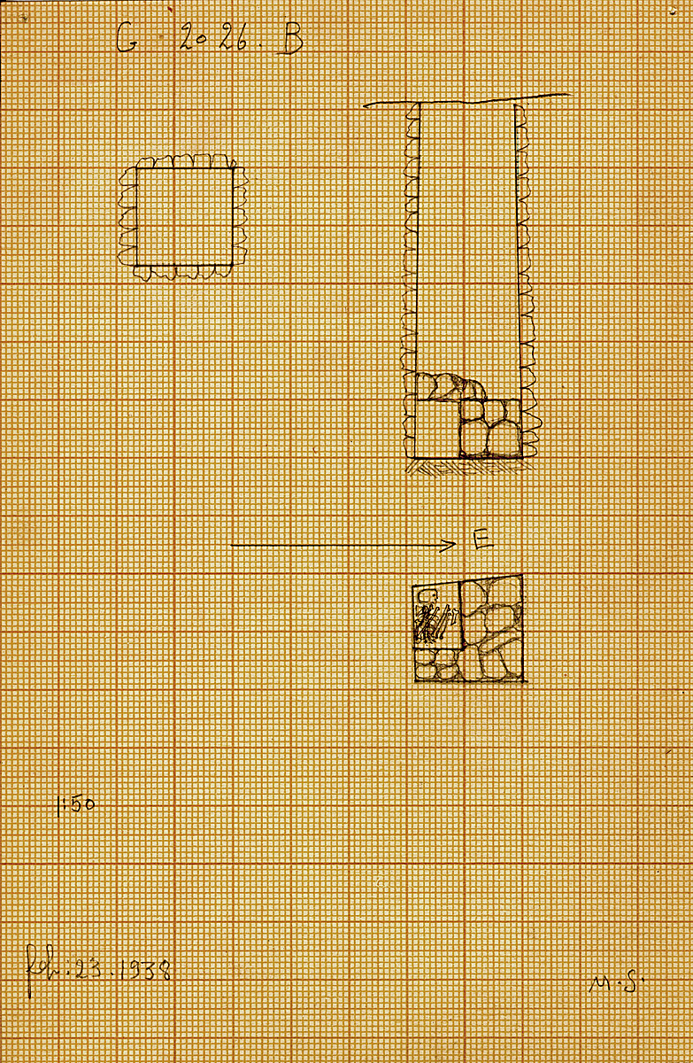 Maps and plans: G 2026, Shaft B