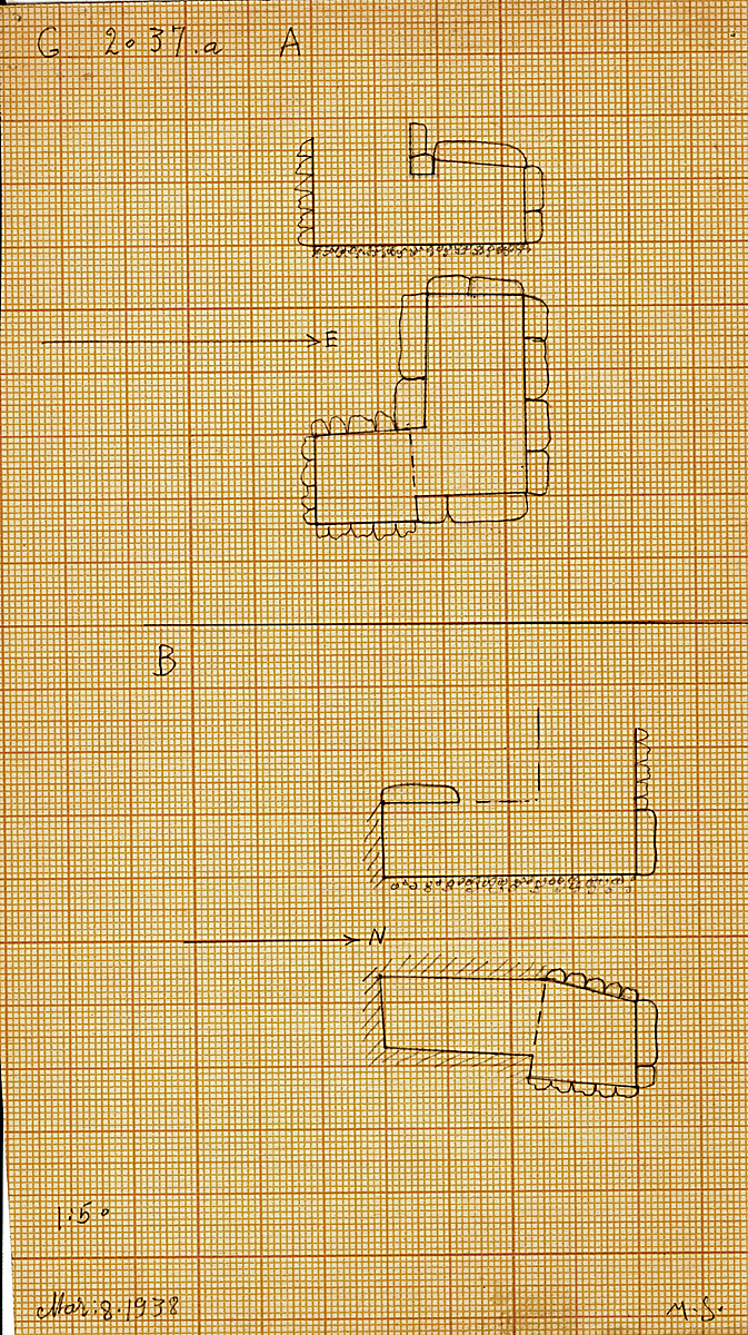 Maps and plans: G 2037a, Shaft A and B