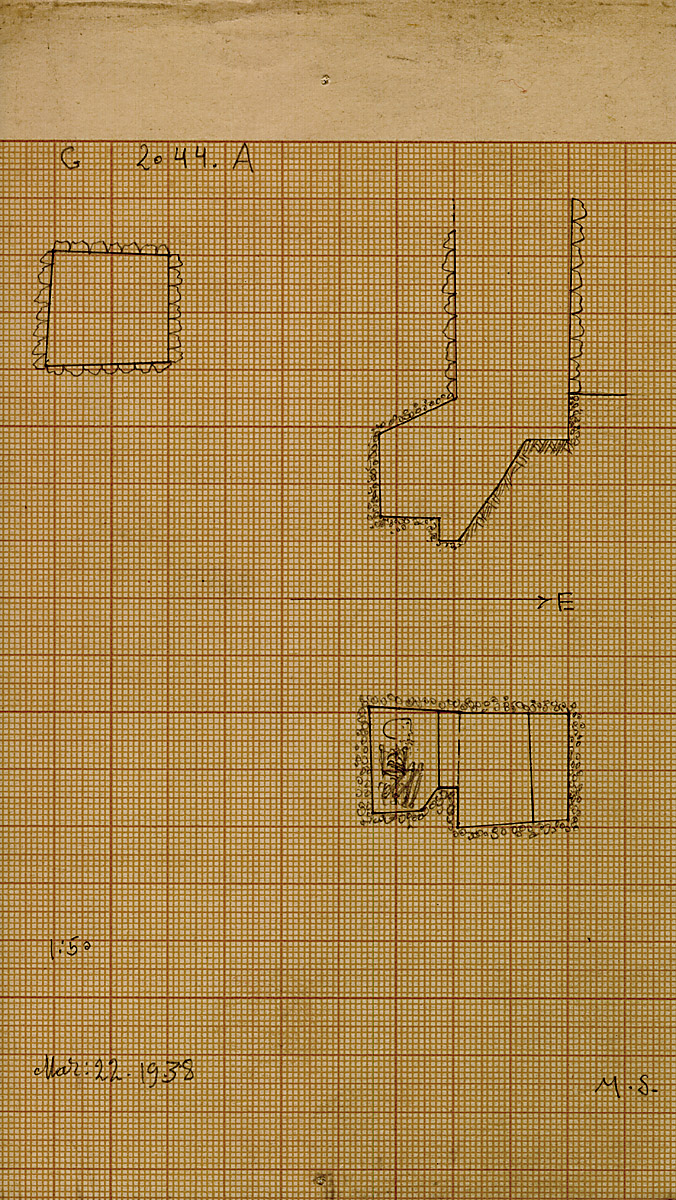 Maps and plans: G 2044, Shaft A