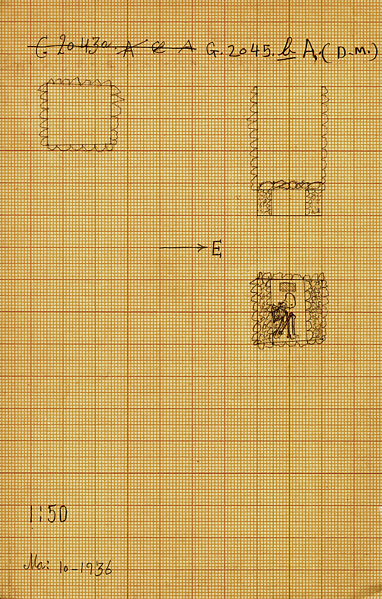 Maps and plans: G 2045b, Shaft A