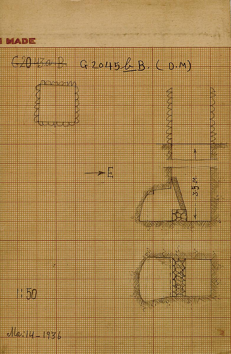 Maps and plans: G 2045b, Shaft B