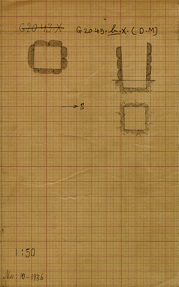 Maps and plans: G 2045b, Shaft X