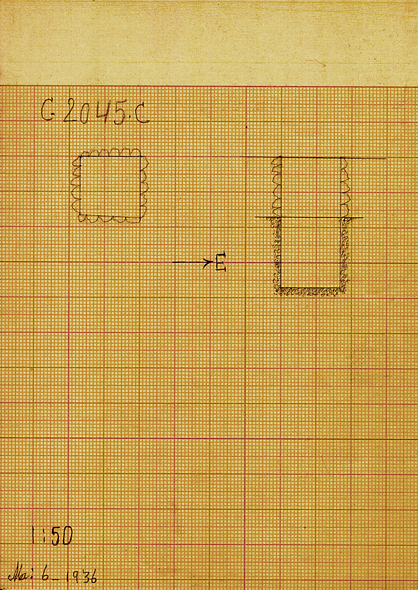 Maps and plans: G 2045a, Shaft C