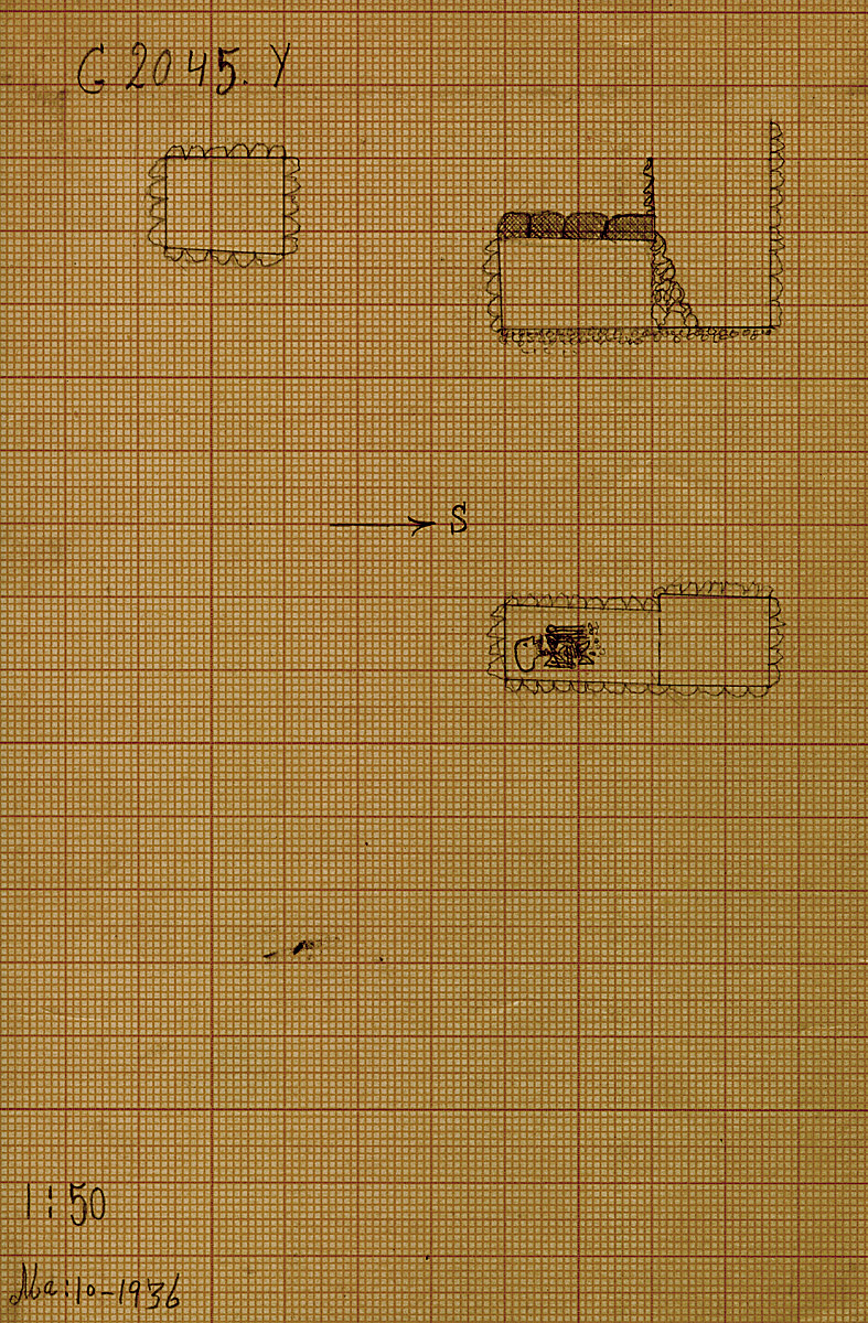 Maps and plans: G 2045c, Shaft Y