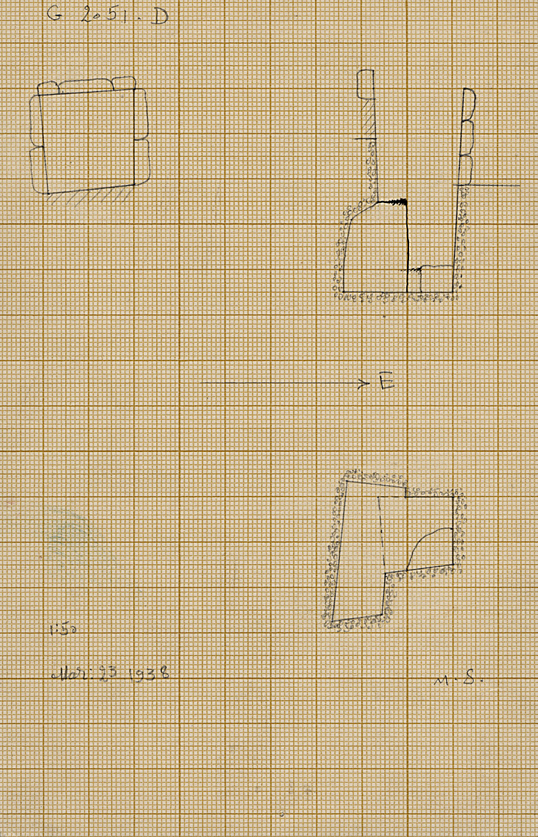 Maps and plans: G 2051, Shaft D
