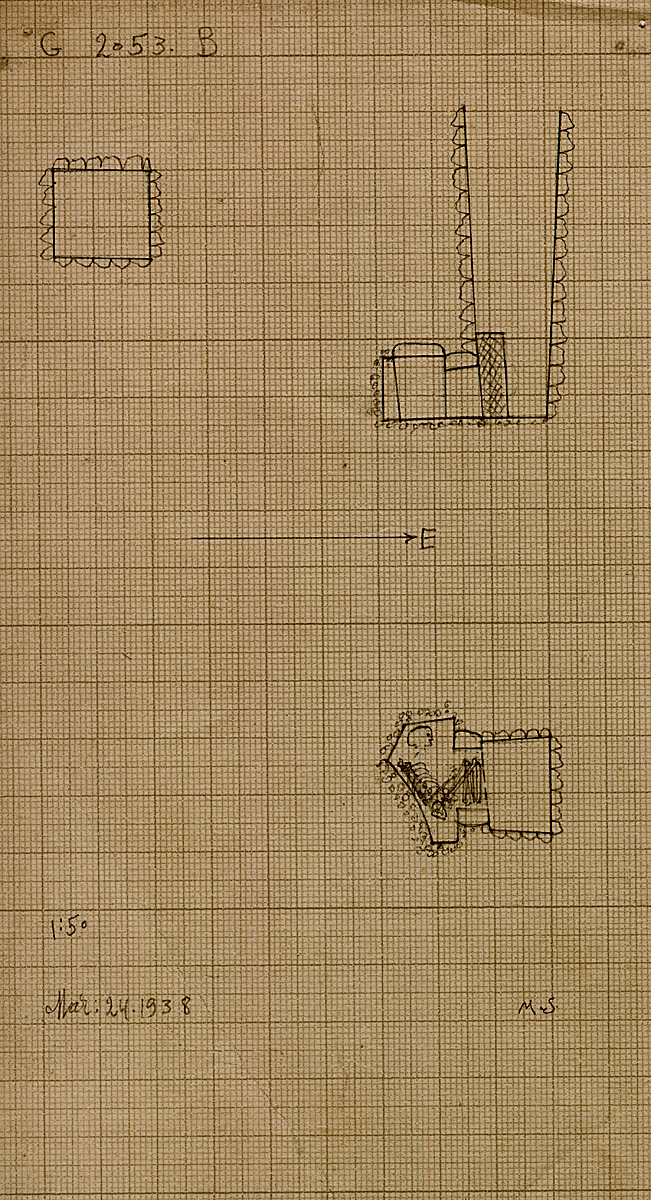 Maps and plans: G 2053, Shaft B
