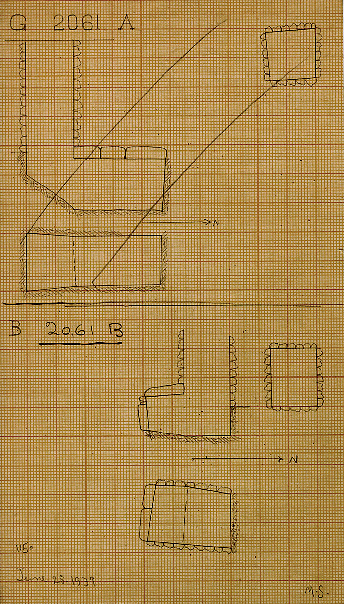 Maps and plans: G 2061, Shaft B
