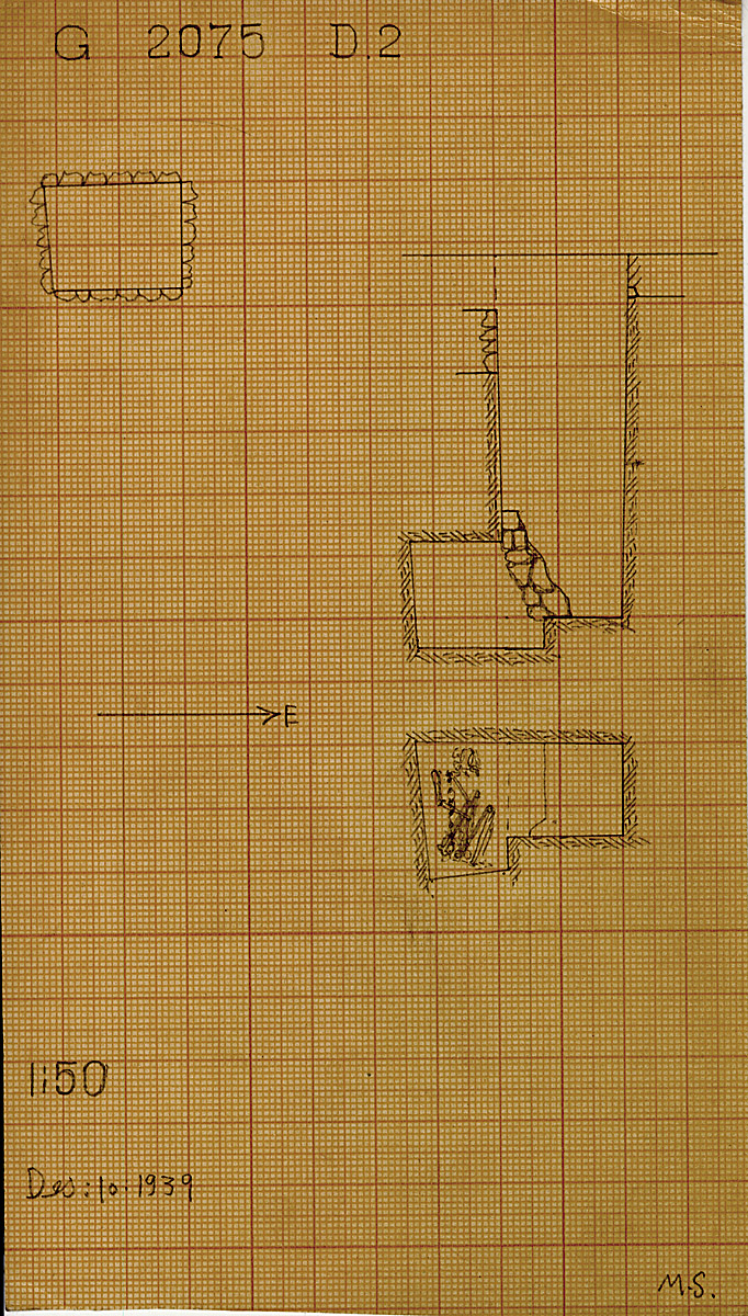 Maps and plans: G 2075, Shaft D2