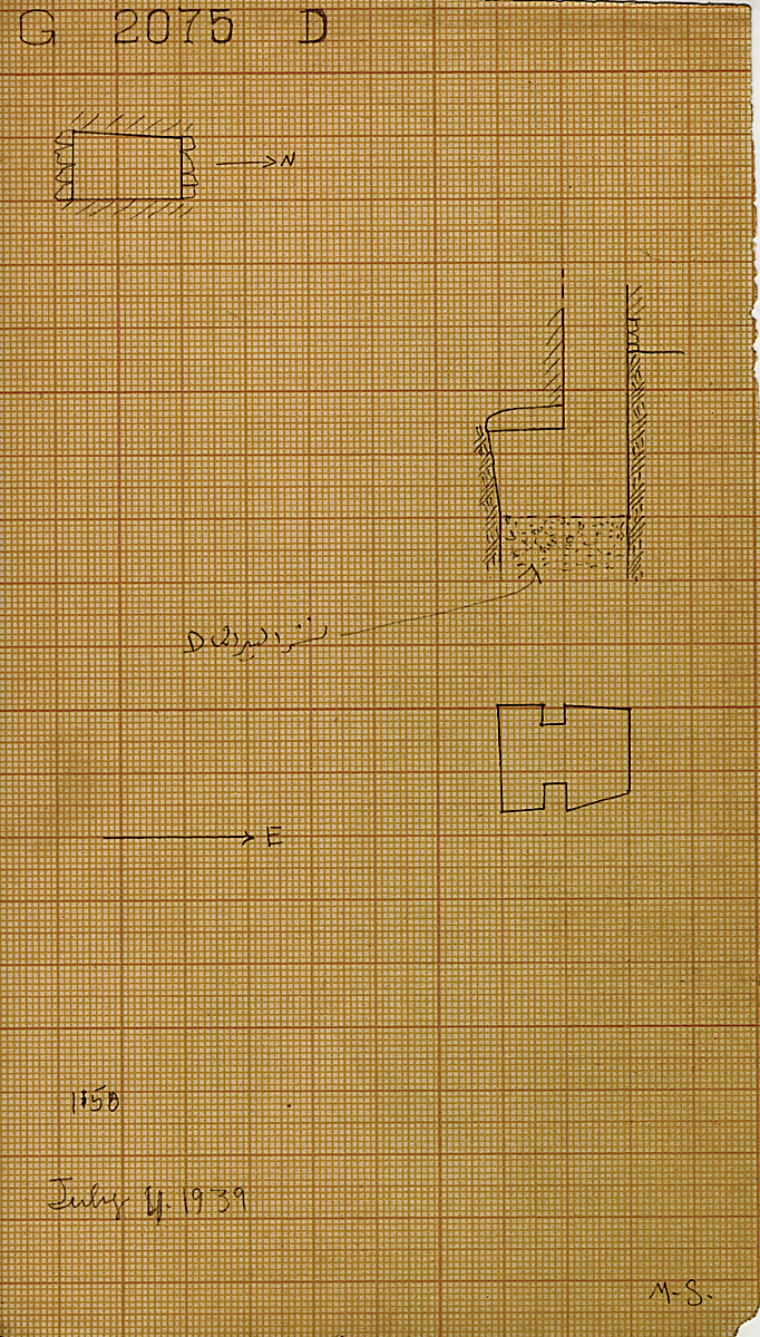 Maps and plans: G 2075, Shaft D