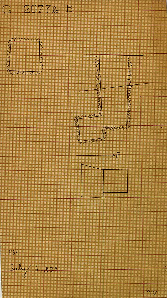 Maps and plans: G 2077b, Shaft B